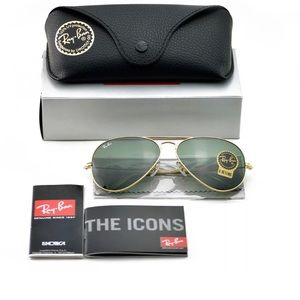 Other - Rayban Aviator Sunglasses RB3025 Gold G-15 Lens